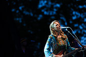 Susan Tedeschi of Tedeschi Trucks Band performs the 2015 Central Park Summerstage Tedeschi Trucks Band With Spirit Family Reunion at Rumsey Playfield...