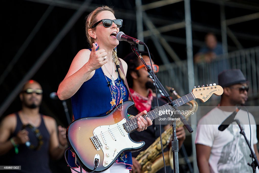 Susan Tedeschi of the Tedeschi Trucks Band performs during the 2014 Bonnaroo Music & Arts Festival on June 14, 2014 in Manchester, Tennessee.