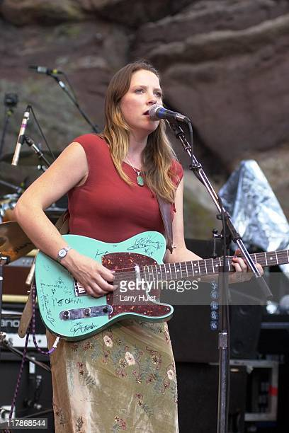 Susan Tedeschi performing at Red Rock Amphitheater in Morrison Colorado on August 13 2001