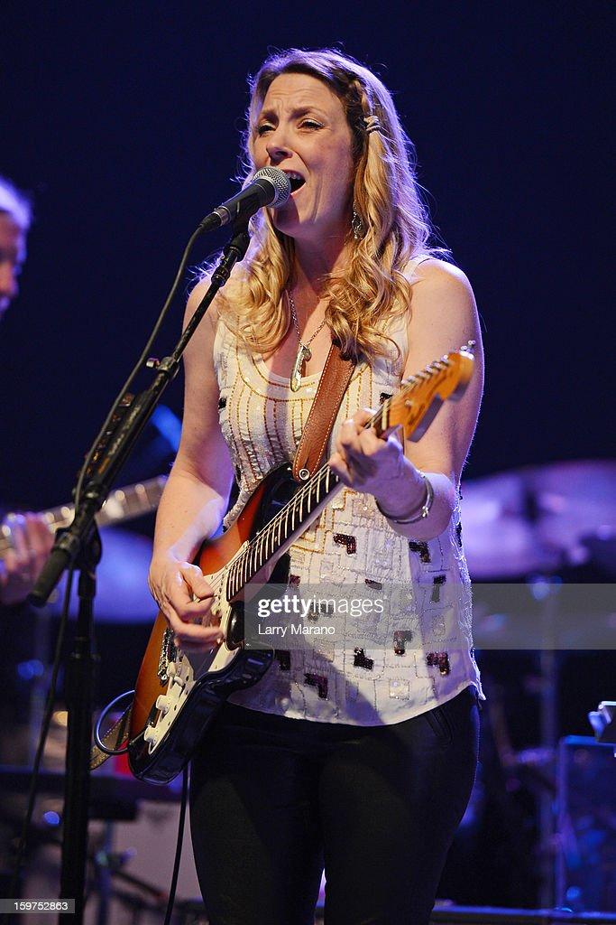Susan Tedeschi performs during the Sunshine Blues Festival at Mizner Park Amphitheatre on January 19, 2013 in Boca Raton, Florida.