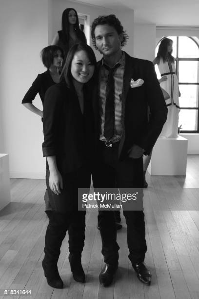 Susan Woo and Matthew Marchak attend SUSAN WOO F/W 2010 Presentation supported by Belvedere at Bryant Park Hotel on February 13 2010 in New York City