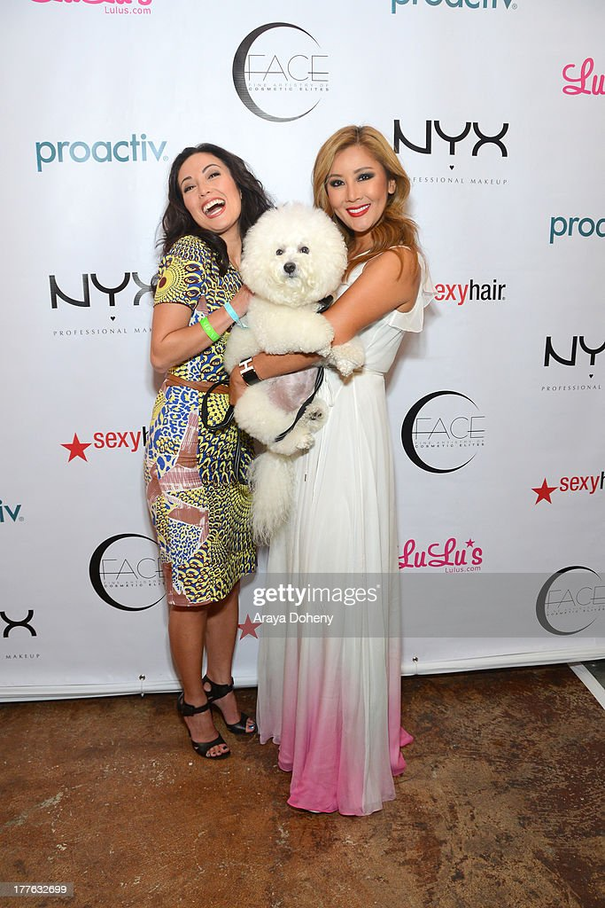Susan Yara and Toni Ko Founder & Chief Creative Director NYX Cosmetics attend the NYX Cosmetics FACE Awards at Beautycon at Siren Studios on August 24, 2013 in Hollywood, California.