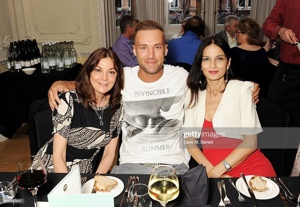 Susan Young, Calum Best and Yasmin Mills attend a private dinner previewing the new 'Alex James Presents' Blue Monday cheese at The Cadogan Hotel on June 11, 2013 in London, England.