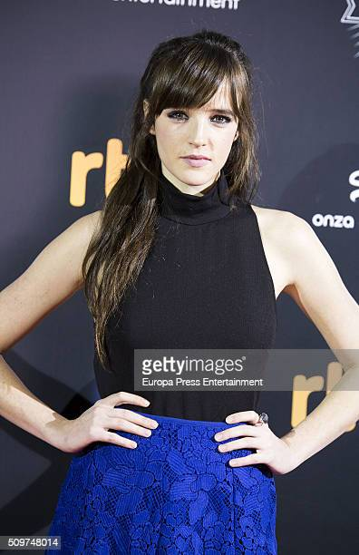 Susana Abaitua attend the 'El Ministerio del Tiempo' season 2 premiere at Capitol Cinema on February 11 2016 in Madrid Spain