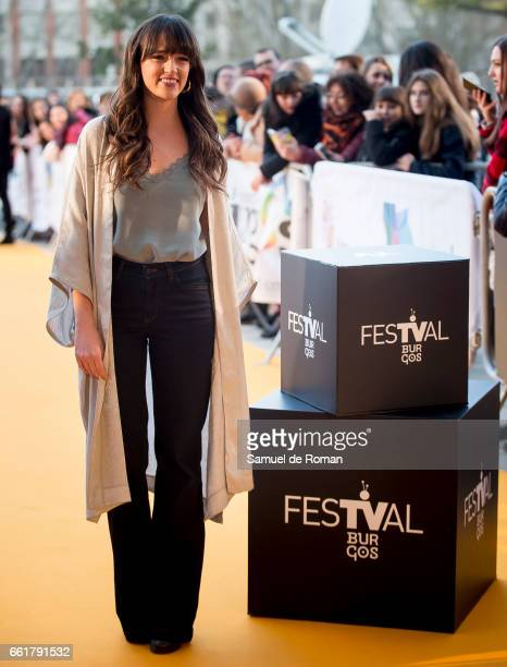 Susana Abaitua attends fesTVal Orange Carpet on March 31 2017 in Burgos Spain