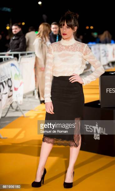 Susana Abaitua attends fesTVal Orange Carpet on March 31 on March 31 2017 in Burgos Spain