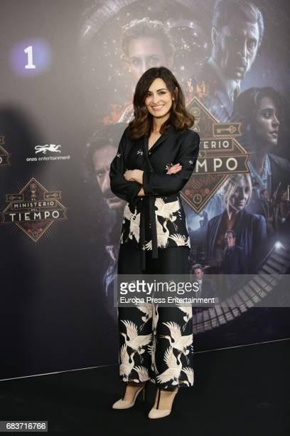Susana Cordoba attends 'El Ministerio del Tiempo' Third Seasson photocall at Radiotelevision Espanola on May 12 2017 in Madrid Spain