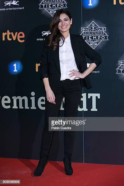Susana Cordoba attends the 'El Ministerio del Tiempo' season 2 premiere at Capitol Cinema on February 11 2016 in Madrid Spain