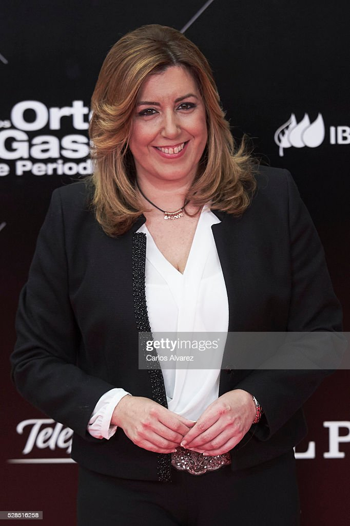 Susana Diaz attends 'Ortega Y Gasset' journalism awards 2016 at Palacio de Cibeles on May 05, 2016 in Madrid, Spain.