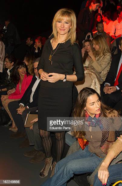 Susana Griso attends a fashion show during the Mercedes Benz Fashion Week Madrid Fall/Winter 2013/14 at Ifema on February 21 2013 in Madrid Spain