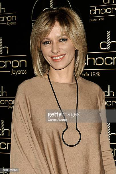 Susana Griso attends the charity 'Chocron Calendar' presentation at the Neptuno Palace on December 9 2015 in Madrid Spain