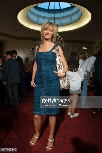 Susana Griso is seen at Palomo Spain front row during MercedesBenz Fashion Week Madrid Spring/Summer 2018 on September 14 2017 in Madrid Spain