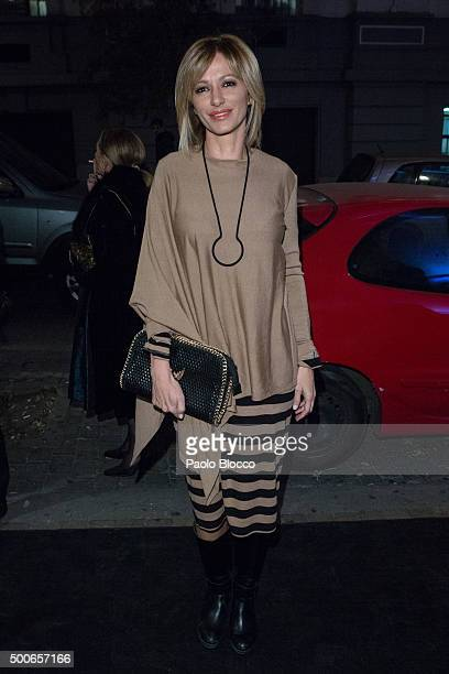 Susana Griso is seen on December 9 2015 in Madrid Spain
