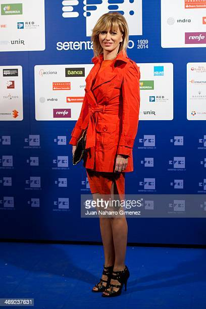 Susana Griso visits new EFE Agency headquarters at EFE Agency on February 13 2014 in Madrid Spain