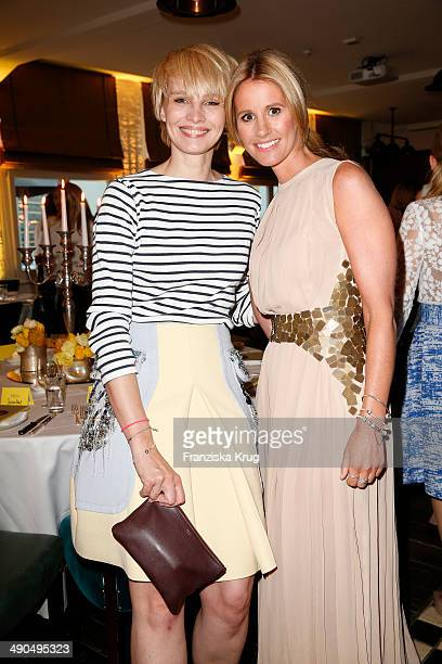 Susann Atwell and Mareile Hoeppner attend the Pandora At Grazia Best Dressed Award at Soho House on May 14 2014 in Berlin Germany