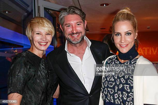Susann Atwell Andreas Pfaff and Judith Rakers attend the Bertelsmann Summer Party at the Bertelsmann representative office on September 10 2014 in...