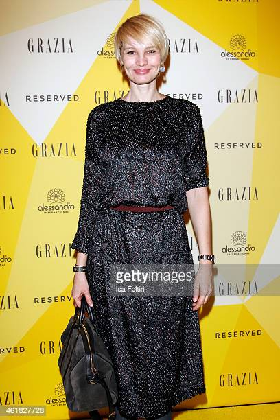 Susann Atwell attends the GRAZIA POP UP Breakfast on January 20 2015 in Berlin Germany