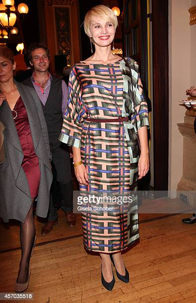 Susann Atwell attends the Hessian Film And Cinema Award 2014 on October 10 2014 at Alte Oper in Frankfurt am Main Germany