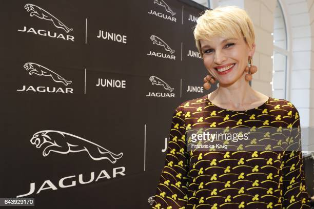 Susann Atwell attends the Jaguar X Juniqe Art Salon opening on February 22 2017 in Munich Germany