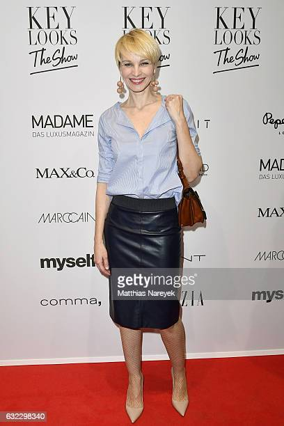 Susann Atwell attends the 'Key Looks The Show' presented by Fashion ID show during the MercedesBenz Fashion Week Berlin A/W 2017 at Kaufhaus Jandorf...