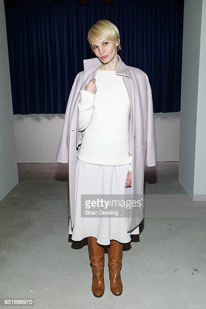 Susann Atwell attends the Perret Schaad show during the MercedesBenz Fashion Week Berlin A/W 2017 at Kaufhaus Jandorf on January 18 2017 in Berlin...