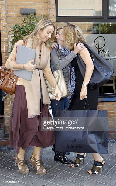 Susanna Griso and Maria Zurita celebrate Susanna Griso's 45th birthday on October 8 2014 in Madrid Spain