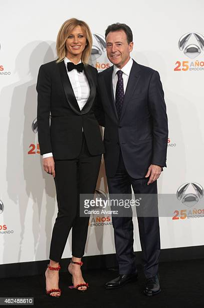 Susanna Griso and Matias Prats attend Antena 3 TV Channel 25th anniversary party at the Palacio de Cibeles on January 29 2015 in Madrid Spain