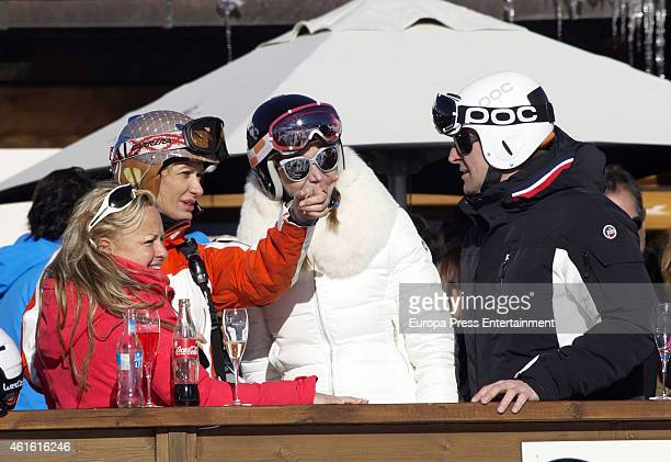 Susanna Griso is seen on December 31 2014 in Baqueira Beret Spain