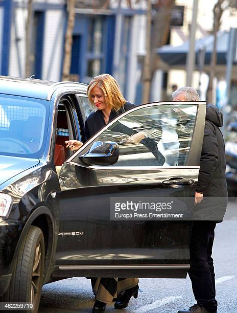 Susanna Griso is seen on January 23 2015 in Madrid Spain