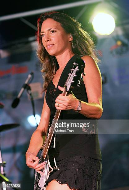 Susanna Hoffs of The Bangles performs onstage at the Santa Monica Pier on July 14 2011 in Santa Monica California