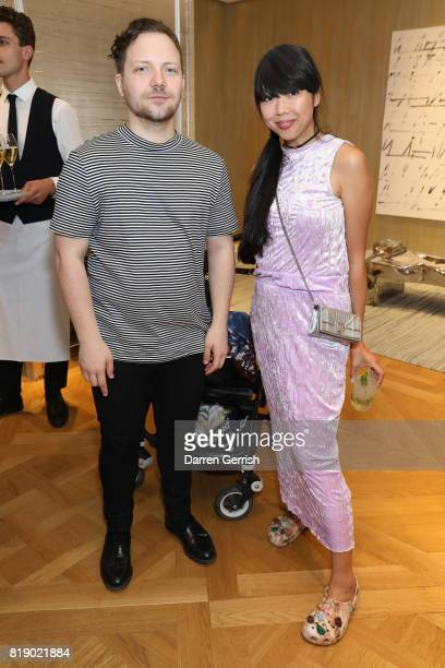 Susanna Lau and Alexander Fury attend the Dior cocktail party to celebrate the launch of Dior Catwalk by Alexander Fury on July 19 2017 in London...