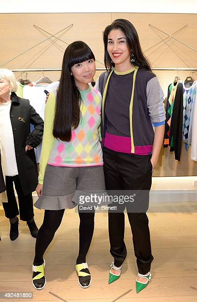 Susanna Lau and Caroline Issa attend the Deconstructed Project with a private dinner hosted by Caroline Issa David Shrigley and Massimo Nicosia on...