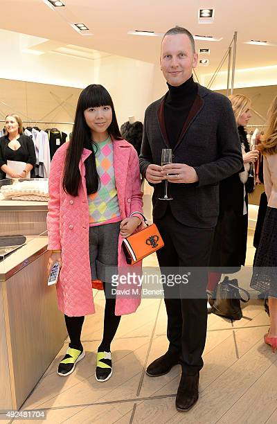 Susanna Lau and David Shrigley attend the Deconstructed Project with a private dinner hosted by Caroline Issa David Shrigley and Massimo Nicosia on...