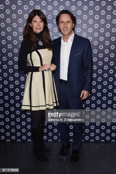 Susanna Messaggio and Giorgio Olivieri attend Opening Garage Italia Milano on November 7 2017 in Milan Italy
