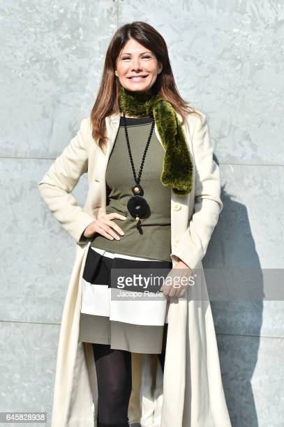Susanna Messaggio attends the Giorgio Armani show during Milan Fashion Week Fall/Winter 2017/18 on February 27 2017 in Milan Italy
