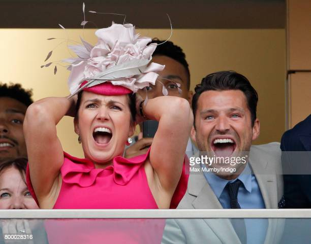 Susanna Reid and Mark Wright watch the Gold Cup as they attend day 3 Ladies Day of Royal Ascot at Ascot Racecourse on June 22 2017 in Ascot England