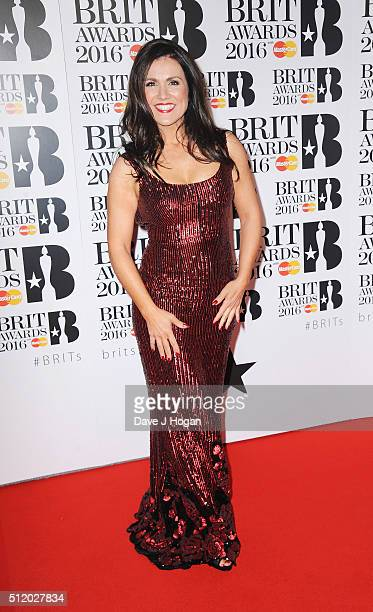 Susanna Reid attends the BRIT Awards 2016 at The O2 Arena on February 24 2016 in London England
