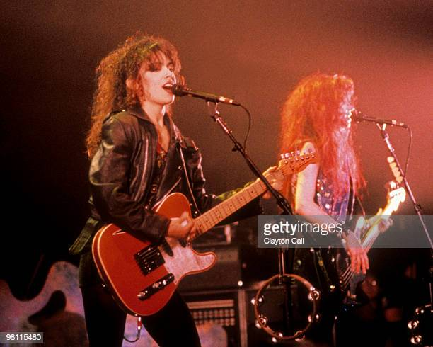Susannah Hoffs and Michael Steele of The Bangles play the Warfield Theater in San Francisco on April 17 1989