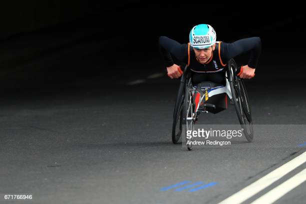 Susannah Scaroni of the United States competes during the Virgin Money London Marathon on April 23 2017 in London England