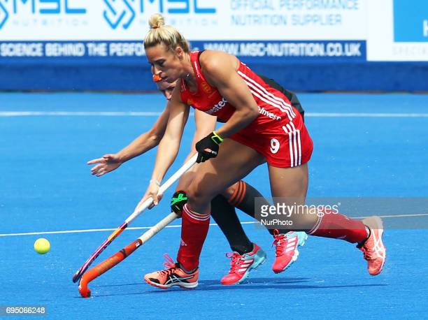 Susannah Townsend of England during the Investec International match between England Women and Netherlands Women at The Lee Valley Hockey and Tennis...