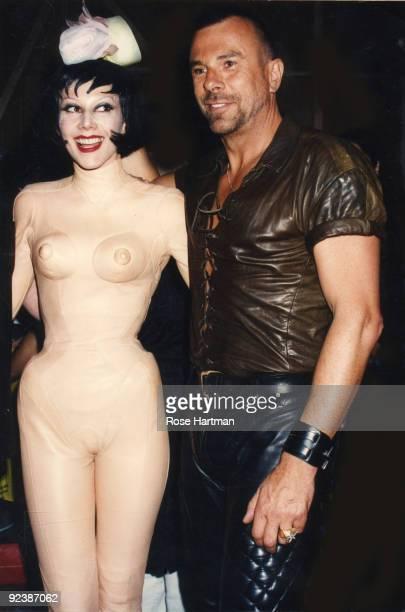Susanne Bartsch and designer Thierry Mugler at Barsch Fashion Show/Wedding held at the Hammerstein Ballroom New York ca1990s