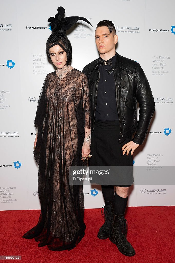 <a gi-track='captionPersonalityLinkClicked' href=/galleries/search?phrase=Susanne+Bartsch&family=editorial&specificpeople=783313 ng-click='$event.stopPropagation()'>Susanne Bartsch</a> (L) and Jordan Lee attend the VIP reception and viewing for The Fashion World of Jean Paul Gaultier: From the Sidewalk to the Catwalk at the Brooklyn Museum on October 23, 2013 in the Brooklyn borough of New York City.