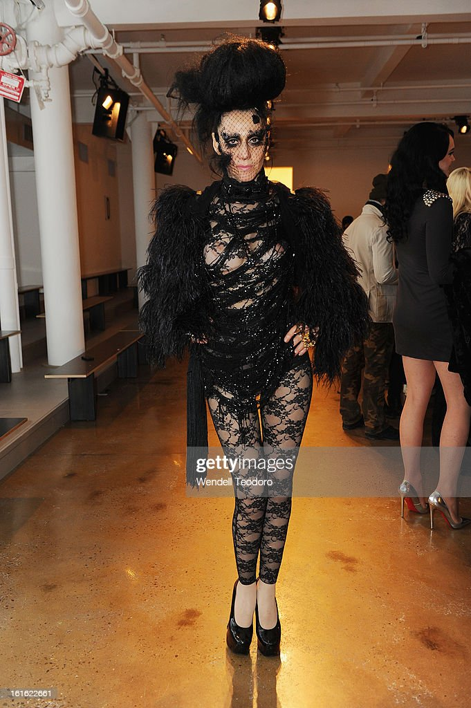 <a gi-track='captionPersonalityLinkClicked' href=/galleries/search?phrase=Susanne+Bartsch&family=editorial&specificpeople=783313 ng-click='$event.stopPropagation()'>Susanne Bartsch</a> attends The Blondes during Fall 2013 MADE Fashion Week at Milk Studios on February 12, 2013 in New York City.