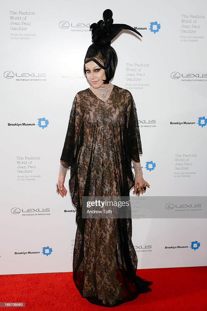 Susanne Bartsch attends the VIP reception and viewing for The Fashion World of Jean Paul Gaultier: From the Sidewalk to the Catwalk at the Brooklyn Museum on October 23, 2013 in the Brooklyn borough of New York City.