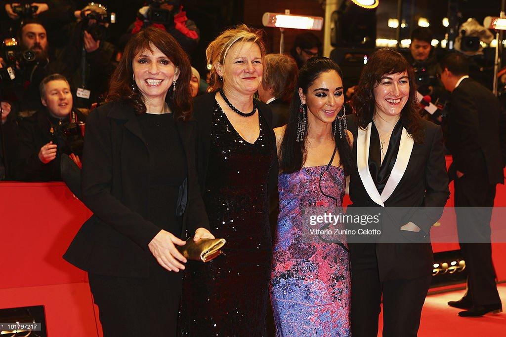 Susanne Bier Ellen Kuras Shirin Neshat and Athina Rachel Tsangari attend the Closing Ceremony of the 63rd Berlinale International Film Festival at...