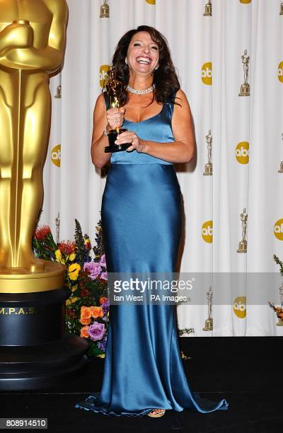 ** Susanne Bier with the Best Foreign Language Film award received for In A Better World at the 83rd Academy Awards at the Kodak Theatre Los Angeles