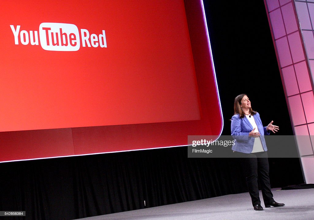 Susanne Daniels, Global Head of Original Content, YouTube, speaks at the industry keynote during VidCon at the Anaheim Hilton on June 23, 2016 in Anaheim, California.