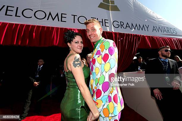 Susanne Gibboney and musician Brann Dailor of Mastodon attend The 57th Annual GRAMMY Awards at the STAPLES Center on February 8 2015 in Los Angeles...
