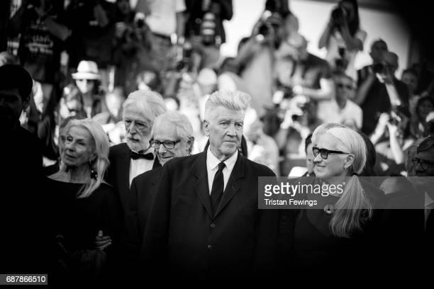 Susanne Haneke Michael Haneke Ken Loach David Lynch and Jane Campion attend the 70th Anniversary screening during the 70th annual Cannes Film...