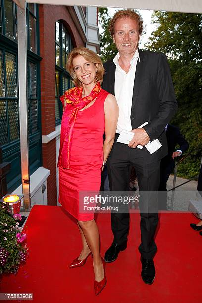 Susanne Holst and Jens de Buhr attend the 'Nacht der Medien 2013' on August 09 2013 in Hamburg Germany